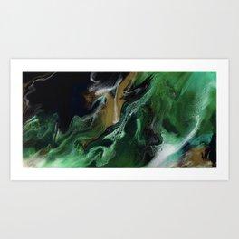 Trimeresurus Stejnegeri - Resin Art Art Print