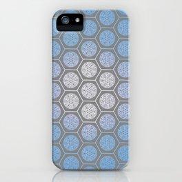 Hexagonal Dreams - Periwinkle/Turquoise gradient iPhone Case