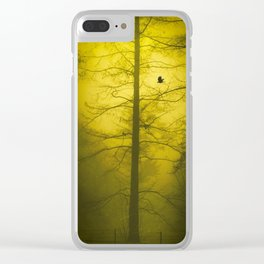 Yellow Mist Clear iPhone Case