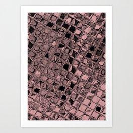 Metallic Bridal Rose Art Print