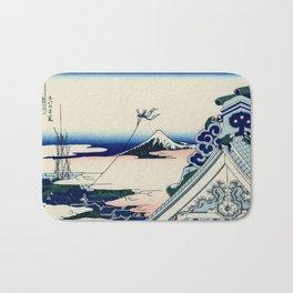 "Hokusai (1760-1849) ""Asakusa Hongan-ji temple in the Eastern capital [Edo]"" Bath Mat"