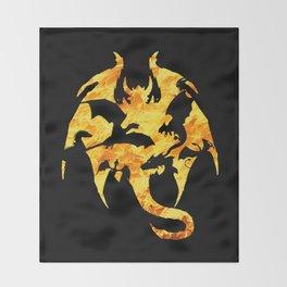 The dark fire dragon Throw Blanket