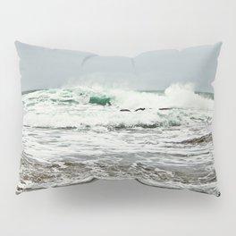 Sea Breaks on the Tidal Shelf Pillow Sham
