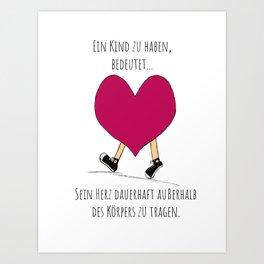 Lauf, Herz Art Print