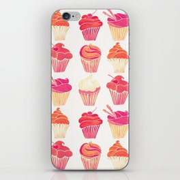 Cupcake Collection – Pink & Cream Palette iPhone Skin