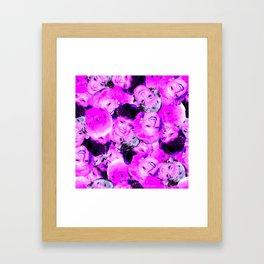 Golden Girls Toss in Electric Pop Pink Framed Art Print