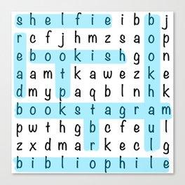 Bookstagram Word Search - Blue Canvas Print