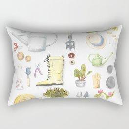 Gardening Tools Rectangular Pillow