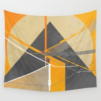 pyramid Wall Tapestries featuring Pyramid by ErDavid