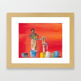 Water Collection Framed Art Print