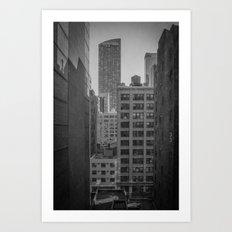 grimy nyc window... Art Print