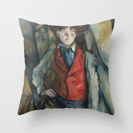 Camille Pissarro - Boy In A Red Waistcoat Throw Pillow