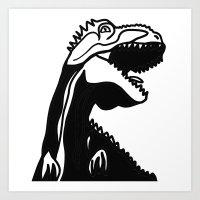 dinosaur Art Prints featuring dinosaur by Alexandr-Az