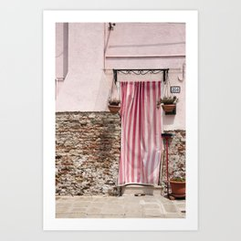 Burano in Pink Art Print