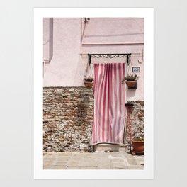 Burano in Pink Art Print