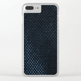 Reusable eco bag texture cloth Clear iPhone Case