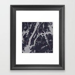 New York City Monochrome Framed Art Print