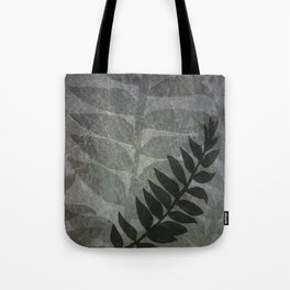 Pantone Lilac Gray Abstract Grunge with Fern Leaf - Foliage Silhouettes Tote Bag