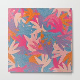 Colorful Cut-Out Leaf Shapes Metal Print