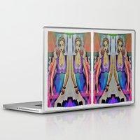 gemini Laptop & iPad Skins featuring Gemini by Deb MacNeil