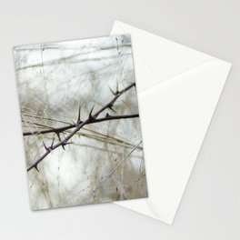 Cross Thorns and Spikes Branches Stationery Cards