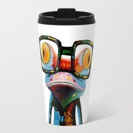 Hipster Frog Nerd Glasses Travel Mug