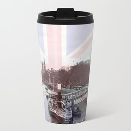 London Skyline and Union Jack Flag  Travel Mug