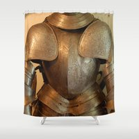knight Shower Curtains featuring Knight by SlothgirlArt