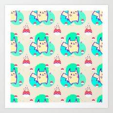 PikachuPattern Art Print