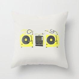 DJ Vinyl Decks And Mixer Throw Pillow