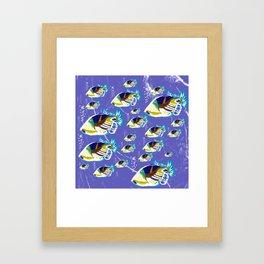 fish family in the open sea Framed Art Print