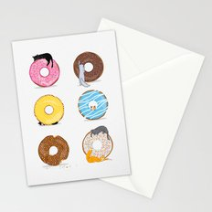 Cats and Donuts Stationery Cards