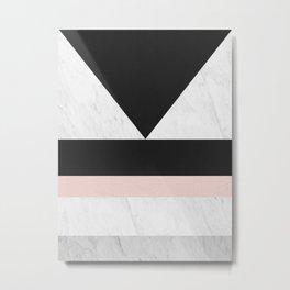 Modern marble geometry V Metal Print