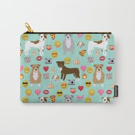 pitbull emoji dog breed pattern Carry-All Pouch