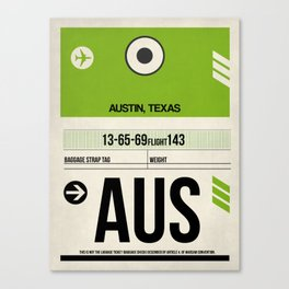 AUS Austin Luggage Tag 1 Canvas Print