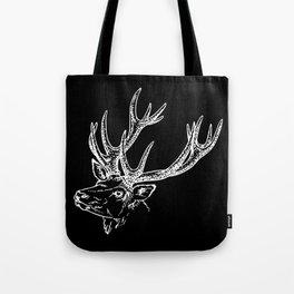 Deer Black White Tote Bag