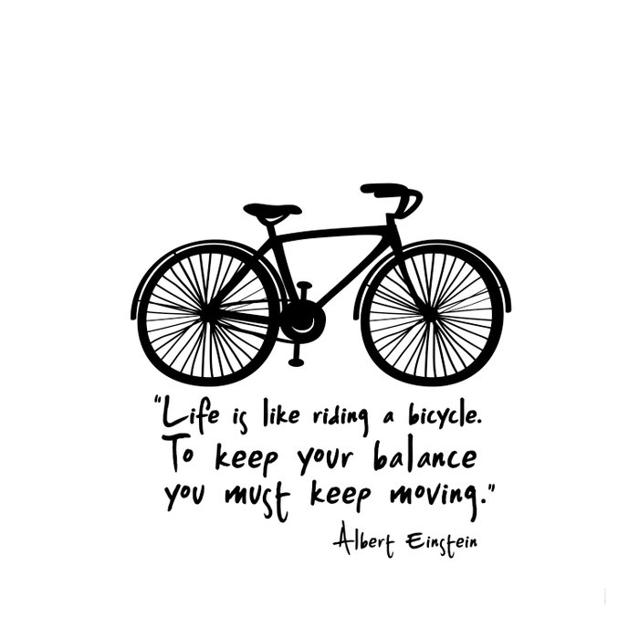 Life Is Like Riding A Bicycle Duvet Cover By