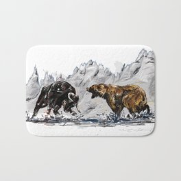 Bull and Bear Bath Mat