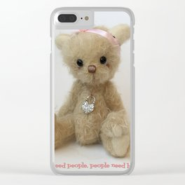 Chicago Teddy bear quote Clear iPhone Case