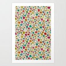 garland flowers multi Art Print