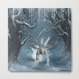 Wonderful ice dragon Metal Print