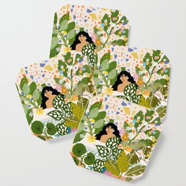 Bathing with Plants Coaster
