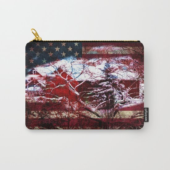 Patriotic American Barn Carry-All Pouch