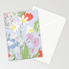 Lots of beautiful flowers Stationery Cards