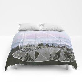 Geometric Nature - Bear (Full) Comforters