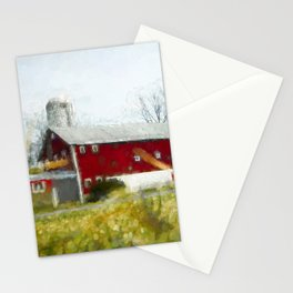 Red Barn 4 #painting Stationery Cards