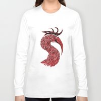 fierce Long Sleeve T-shirts featuring Fierce Raptor by Michal Malacek