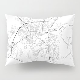 Minimal City Maps - Map Of Salzburg, Austria. Pillow Sham