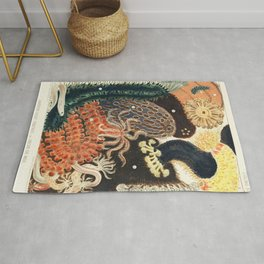 Barrier Reef Trepang or Bche-de-Mer from The Great Barrier Reef of Australia (1893) by William Saville-Kent (1845-1908) Rug
