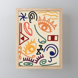 Tribal Anatomy Framed Mini Art Print